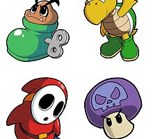 Super Mario Bros. - Enemies Sticker Sheet 2 Collection by 57MEDIA