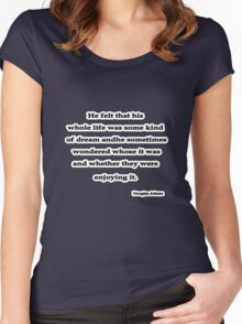 Some Kind of Dream, Douglas Adams Women's Fitted Scoop T-Shirt