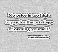 No price too high, Nietzsche by Tammy Soulliere