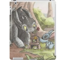 Toothless and Stitch Build a Froghouse iPad Case/Skin