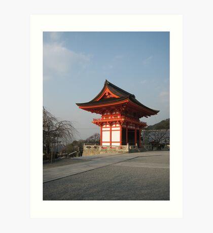 Kyoto Temple01 Art Print