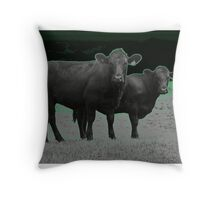 Cley Cows C Throw Pillow