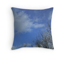 Sky with trees Throw Pillow