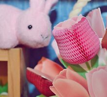Bunny Collection #3 - a bunny and some flowers by Cyndiee Ejanda