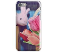Bunny Collection #3 - a bunny and some flowers iPhone Case/Skin