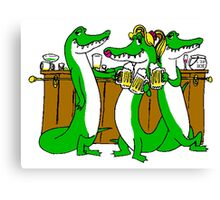 Alligators At Bar Canvas Print