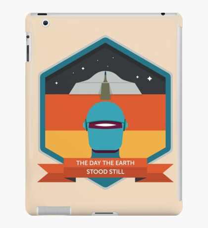 The Day The Earth Stood Still Badge iPad Case/Skin