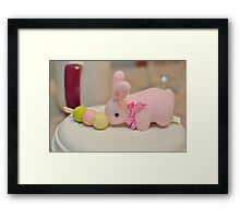 Bunny Collection #10 - a bunny and dango rice balls on a stick Framed Print