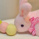 Bunny Collection #10 - a bunny and dango rice balls on a stick by Cyndiee Ejanda