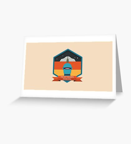 The Day The Earth Stood Still Badge Greeting Card
