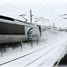 Acela Express Sprays Snow!  by Jack McCabe
