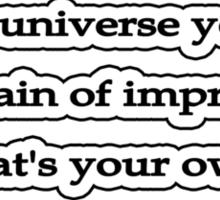 Certain, Aldous Huxley Sticker