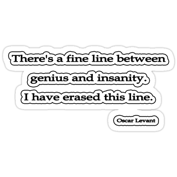 Fine line, Oscar Levant by Tammy Soulliere