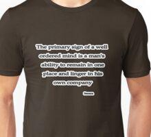 Well ordered mind, Seneca  Unisex T-Shirt
