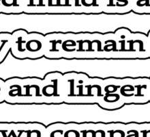 Well ordered mind, Seneca  Sticker