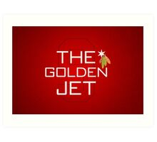 The Golden Jet Art Print