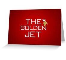 The Golden Jet Greeting Card