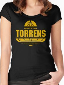 Torrens (yellow) Women's Fitted Scoop T-Shirt