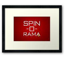 Spin-O-Rama Framed Print