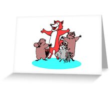 Animals Singing Greeting Card