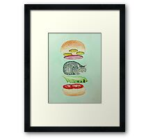 Catsup - Cat Burger Delight! Framed Print
