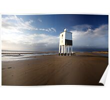 Lighthouse on the Beach Poster