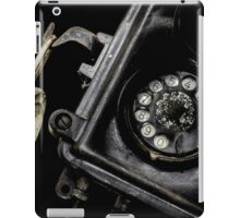 Close-up of an old black telephone iPad Case/Skin