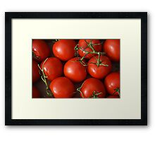 Ruby Red Tomatoes Framed Print