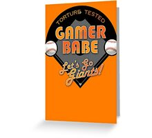Torture Tested Gamer Babe 2 Greeting Card