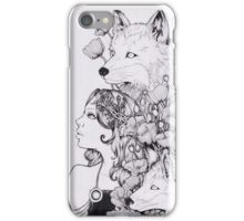 lady and foxes iPhone Case/Skin