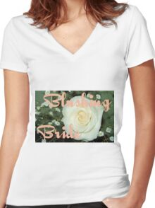 Blushing Bride Women's Fitted V-Neck T-Shirt