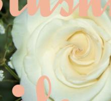 Blushing Bride Sticker