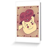Be Mine Pikachu Greeting Card