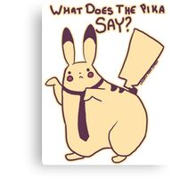 What Does The Pika Say? Canvas Print