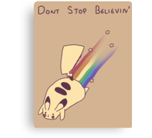 Dont Stop Believin Canvas Print