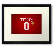 Tony 0 Framed Print