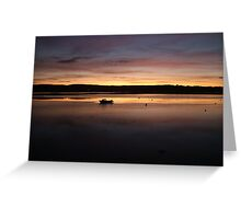 Sunset over the river exe Lympstone Greeting Card