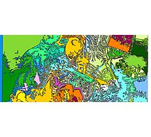 Widescreen Psychedelia I Photographic Print