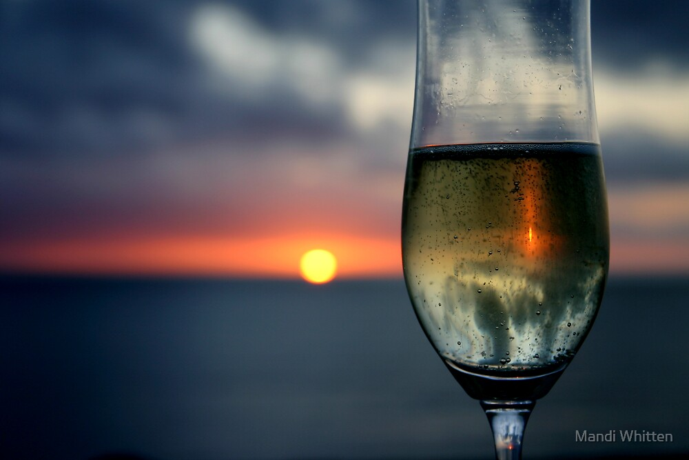 Champagne Sunset by Mandi Whitten