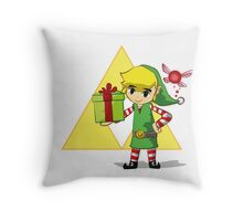 Hey listen the jingle bells Throw Pillow