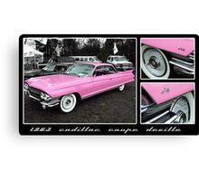 1963 Cadillac Coupe DeVille Canvas Print