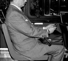 Man on Bus by Judith Oppenheimer