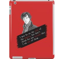 Sherlock Quote Angels iPad Case/Skin