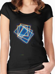 Rainbow Squares Women's Fitted Scoop T-Shirt