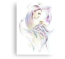 """""""THE VIRGO"""" - Playing with Wings  - Protective Angel for Zodiac Sign Canvas Print"""