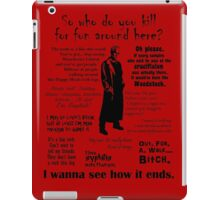 Spike in his own words (black) iPad Case/Skin