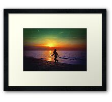 Painted sunset.. Framed Print