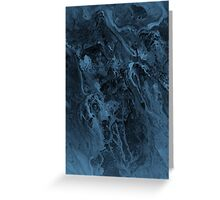 Flowing Paint - Dark Greeting Card
