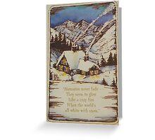 Vintage Card  #7 Greeting Card