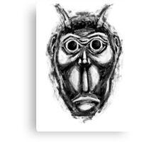 Cockroach humanoid (black ink) Canvas Print